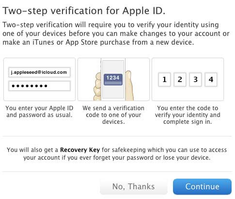 Apple two-factor authentication