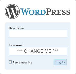 Wordpress Change Password