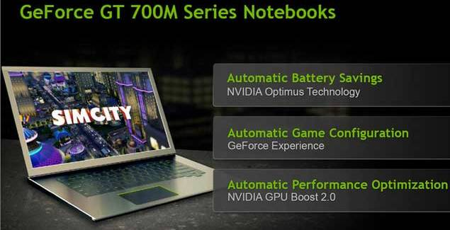 Geforce GT 700M Notebooks