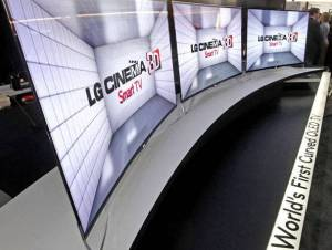 LG curved OLED-TV