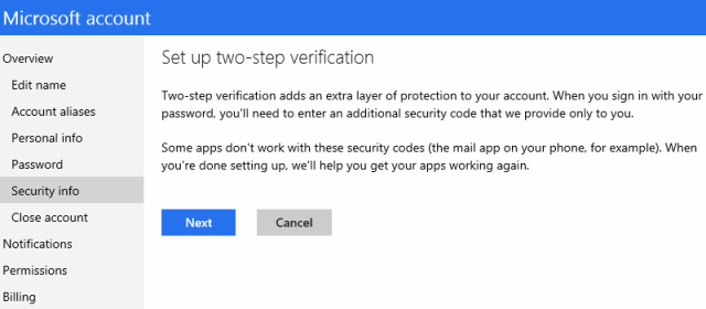 Microsoft account authentication