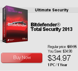 Bitdefender Total Security 2013 Discount