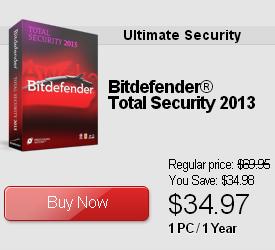 Bitdefender Total Security 2013 Discount
