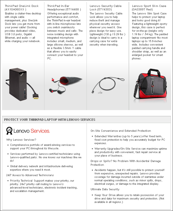 Lenovo Accessories and Services