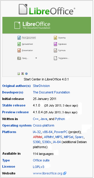 LibreOffice from Wikipedia