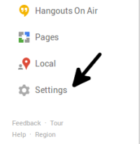 Google+, manage notifications