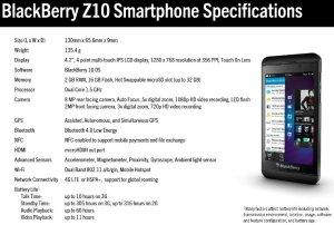 BlackBerry Z10 specifications
