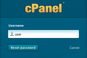 cPanel reset pass
