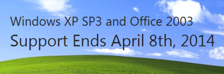 Unsupported Windows XP after April 8