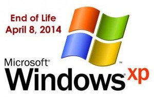 Windows XP end of support in April