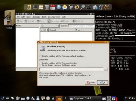 4MLinux Mailbox setting