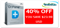 Dr.Fone for iOS MAC Coupon Code