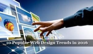 Popular Web Design Trends in 2016